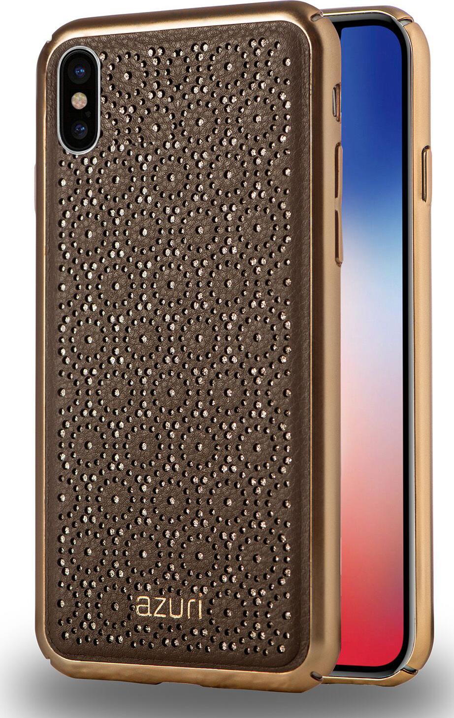 Azuri Elegante Cover Flower - grey - for iPhone X/Xs | Azuri Mobile
