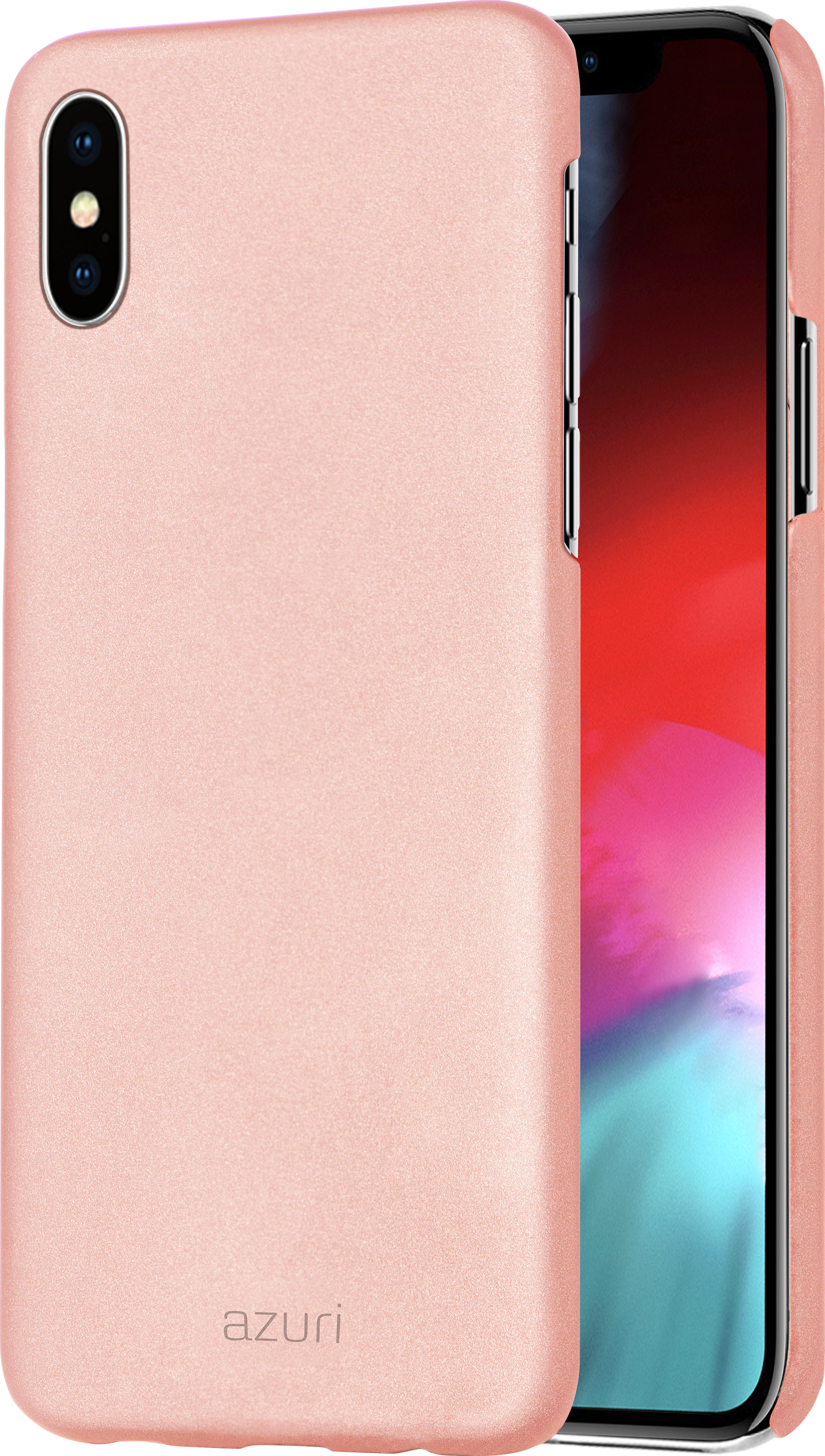 Azuri Metallic Cover With Soft Touch Coating Rose Gold For