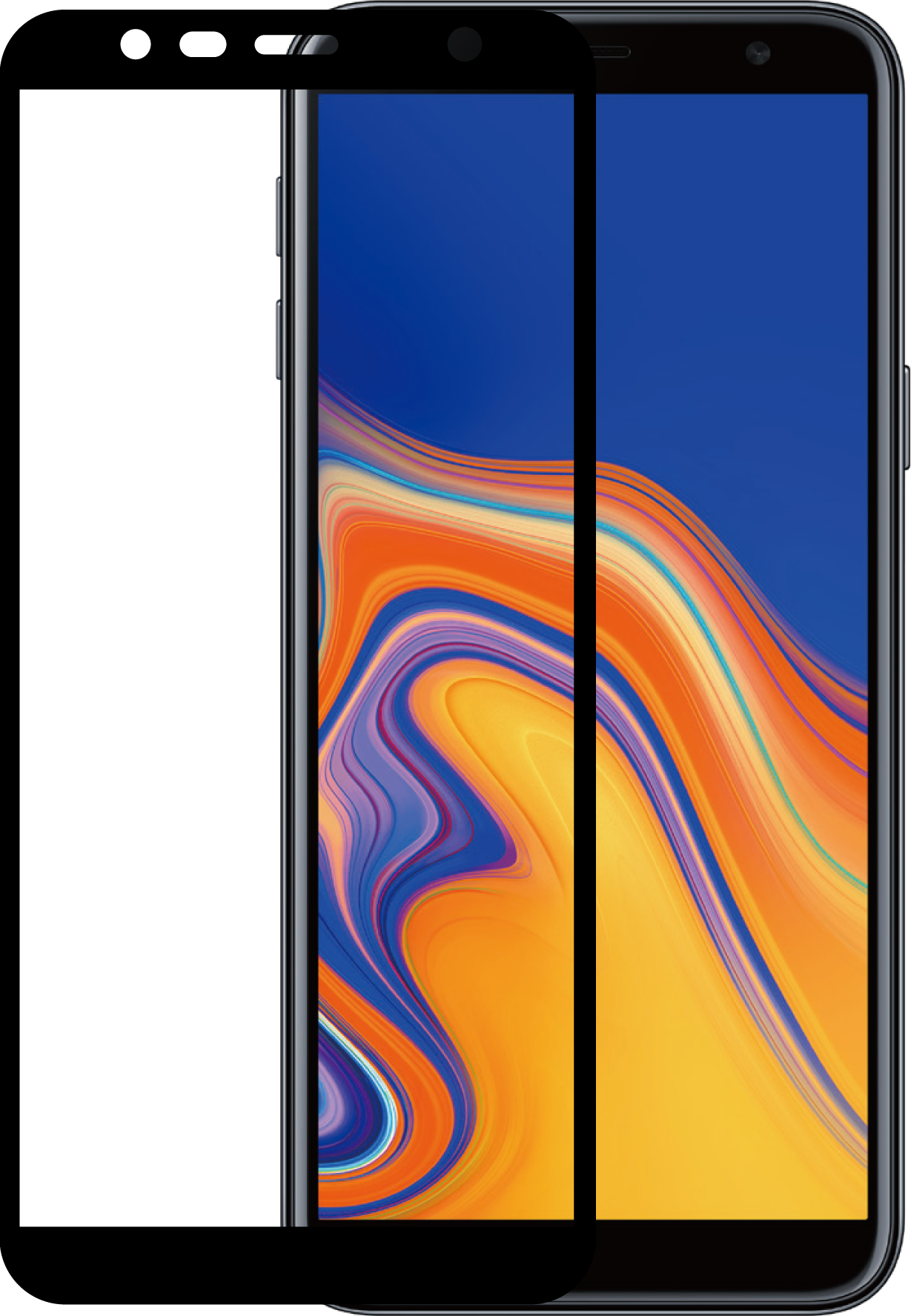 Azuri Tempered Glass flat RINOX ARMOR - black frame